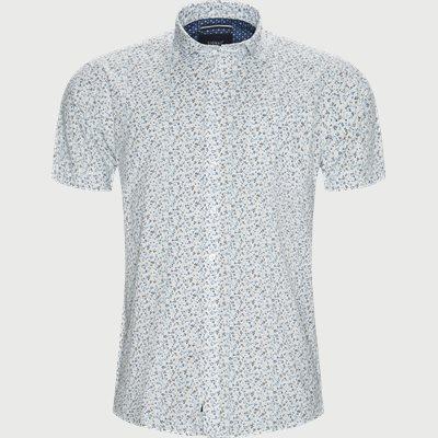Mack Print CP Kortærmet Skjorte Regular | Mack Print CP Kortærmet Skjorte | Hvid
