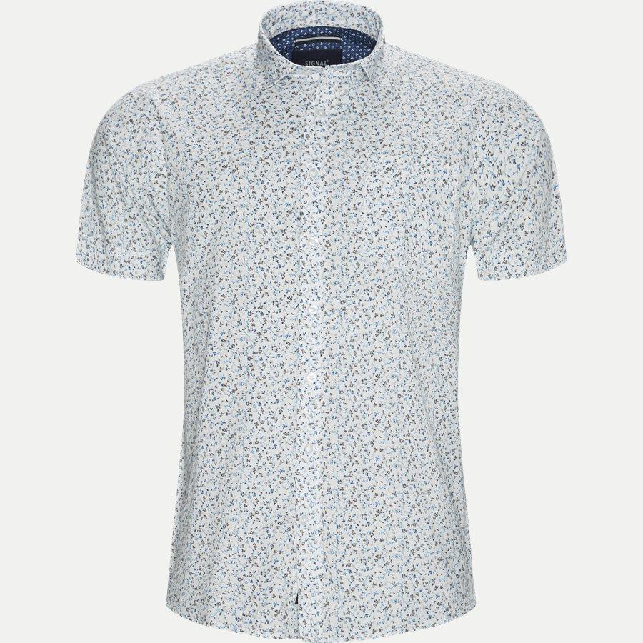 15303 1327 - Mack Print CP Kortærmet Skjorte - Skjorter - Regular - HVID - 1
