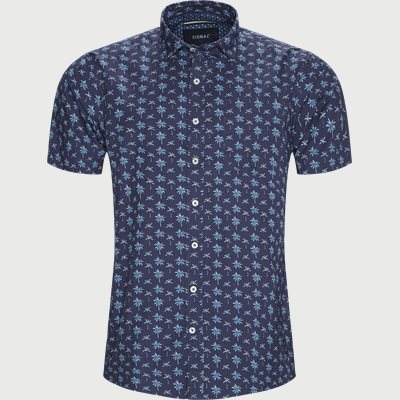 Mack Print CP Kortærmet Skjorte Regular | Mack Print CP Kortærmet Skjorte | Blå