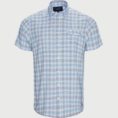 Penn Slub Kortærmet Skjorte Regular | Penn Slub Kortærmet Skjorte | Blå