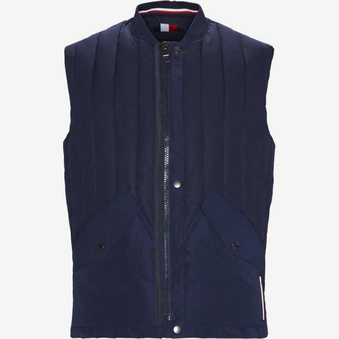 Stretch Quilted Vest - Veste - Regular - Blå