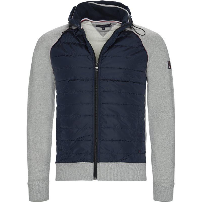 Image of   Tommy Hilfiger - Mixed Media Hooded Zip Through Sweatshirt