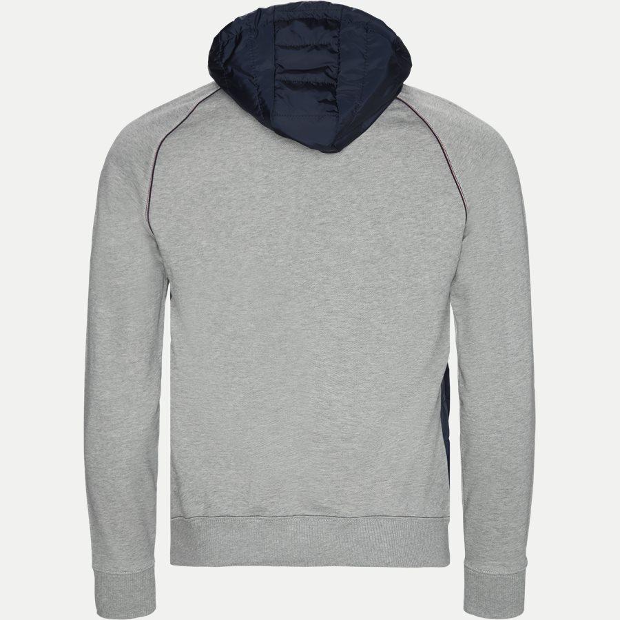 MIXED MEDIA HOODED ZIP THROUGH - Mixed Media Hooded Zip Through Sweatshirt - Sweatshirts - Regular - GRÅ - 2