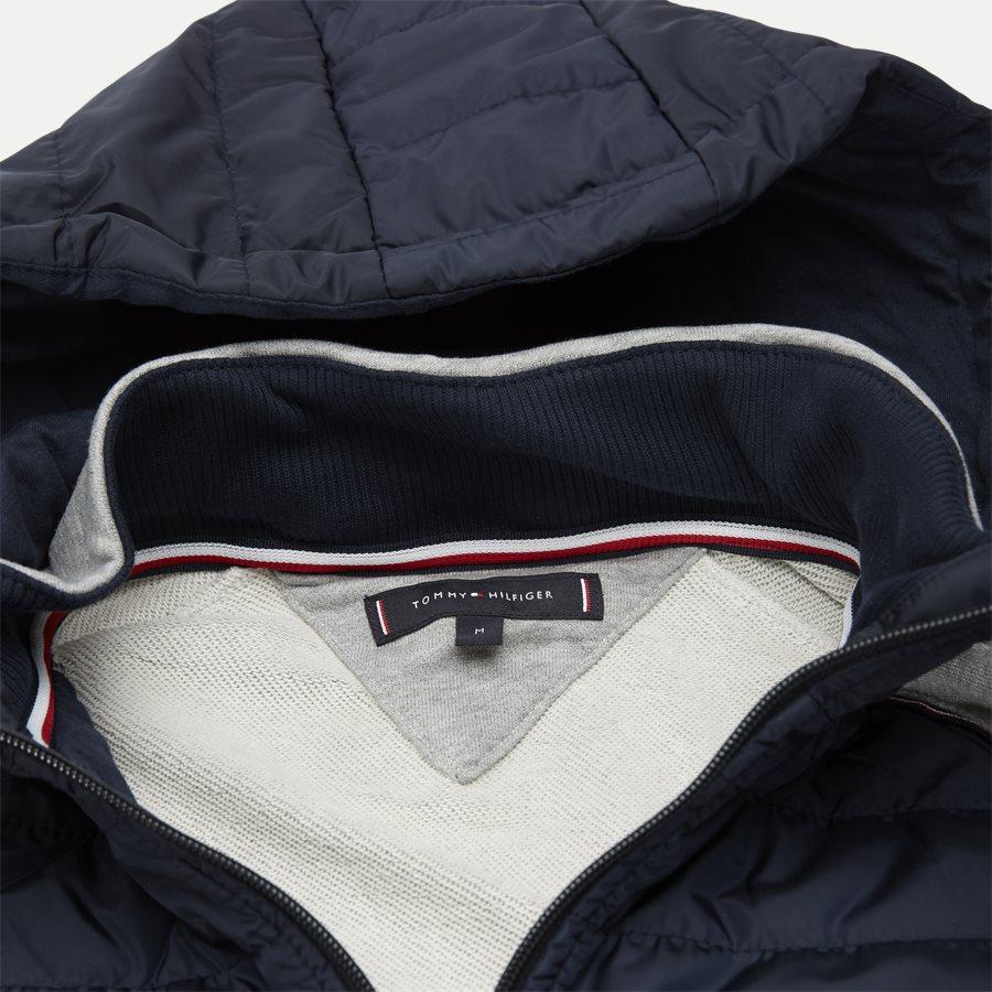 MIXED MEDIA HOODED ZIP THROUGH - Mixed Media Hooded Zip Through Sweatshirt - Sweatshirts - Regular - GRÅ - 3