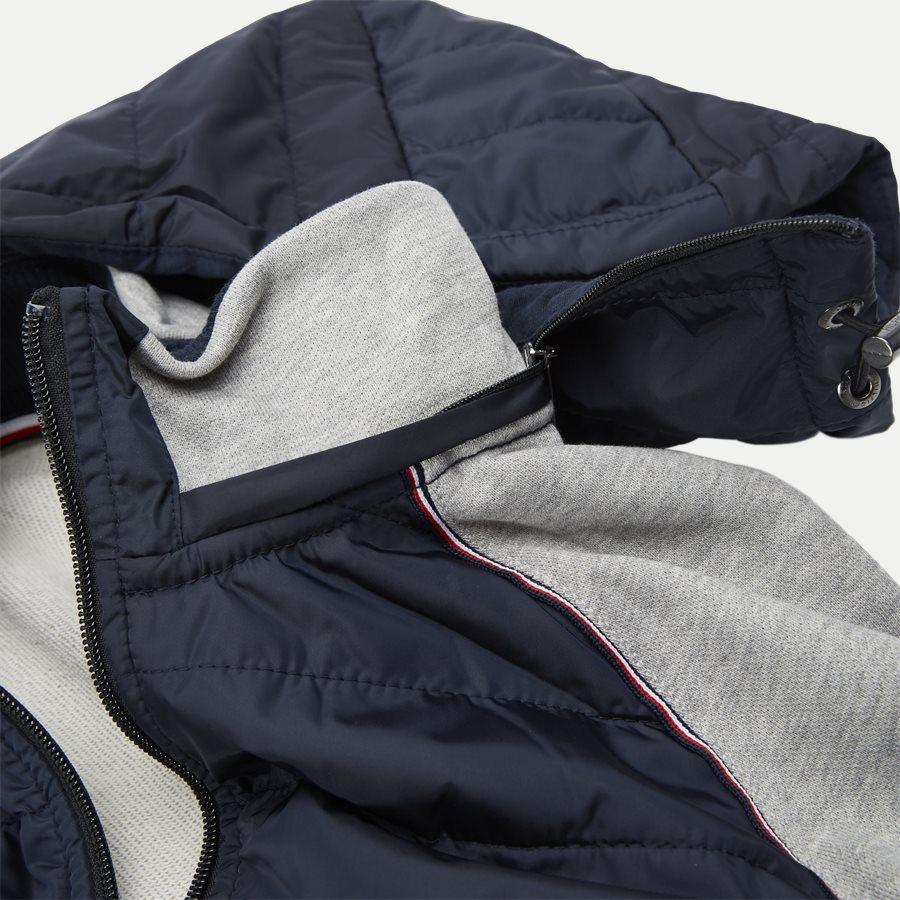 MIXED MEDIA HOODED ZIP THROUGH - Mixed Media Hooded Zip Through Sweatshirt - Sweatshirts - Regular - GRÅ - 4