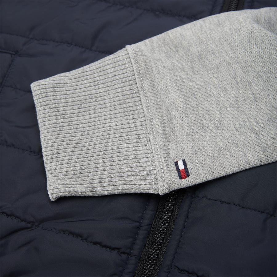 MIXED MEDIA HOODED ZIP THROUGH - Mixed Media Hooded Zip Through Sweatshirt - Sweatshirts - Regular - GRÅ - 5