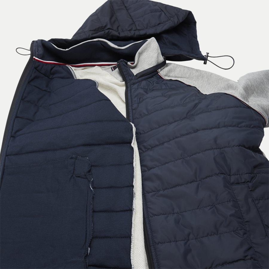 MIXED MEDIA HOODED ZIP THROUGH - Mixed Media Hooded Zip Through Sweatshirt - Sweatshirts - Regular - GRÅ - 8