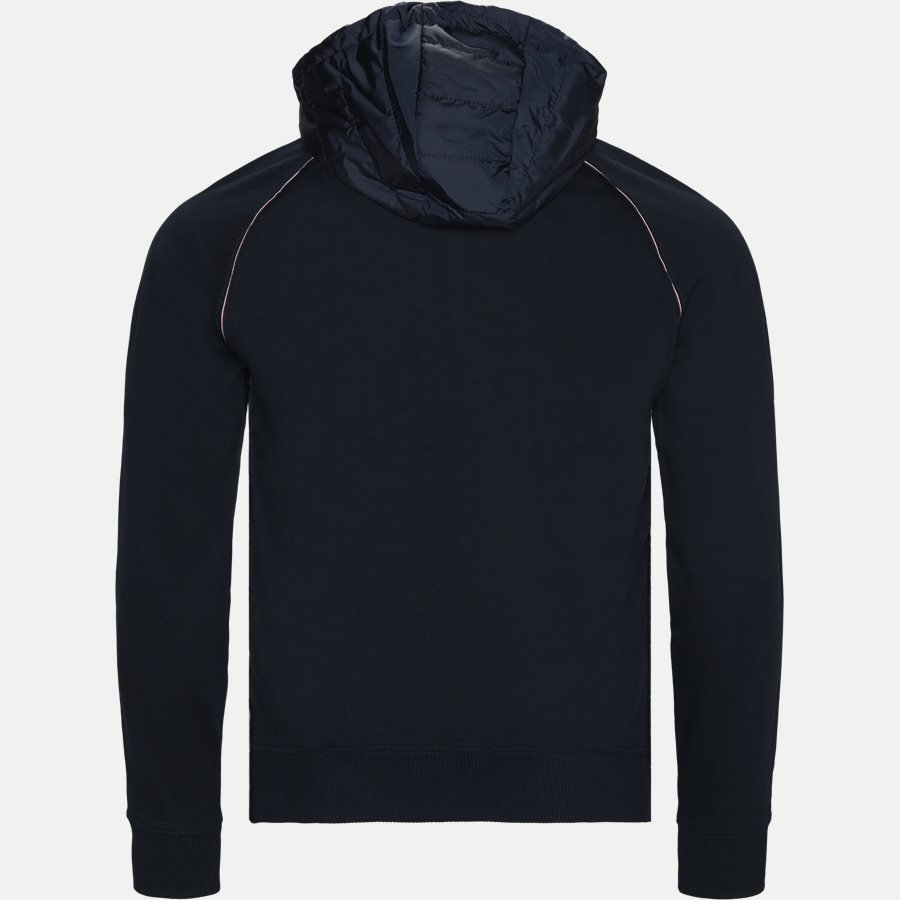 MIXED MEDIA HOODED ZIP THROUGH - Mixed Media Hooded Zip Through Sweatshirt - Sweatshirts - Regular - NAVY - 2