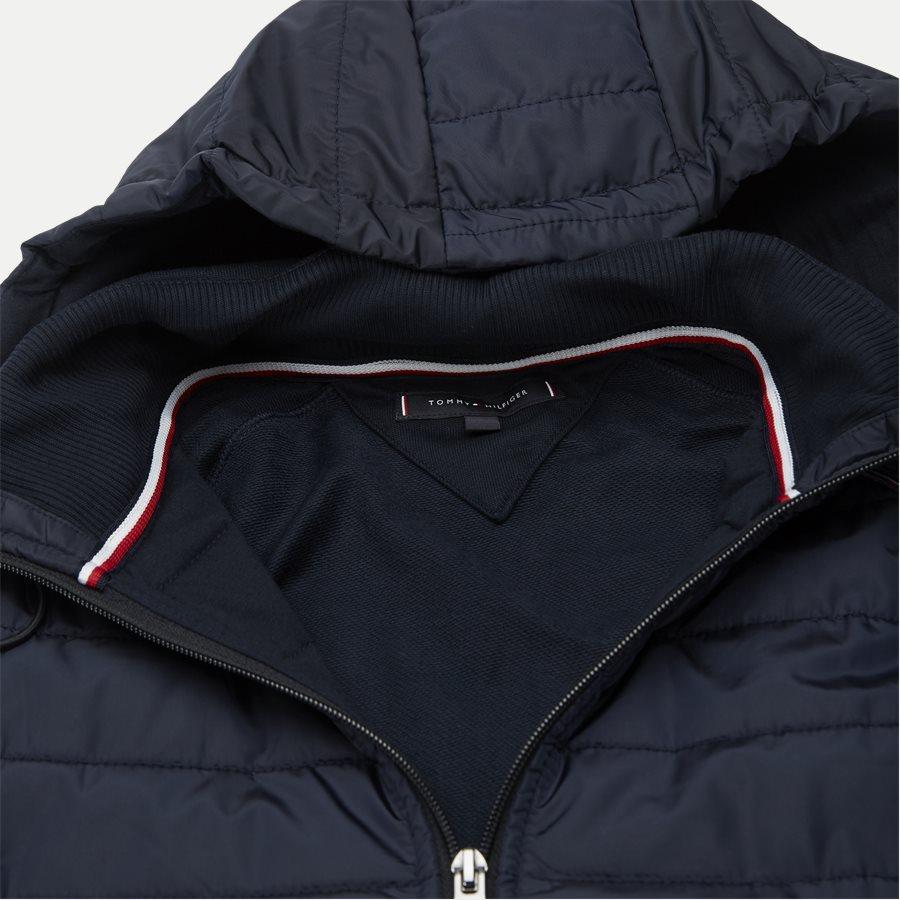 MIXED MEDIA HOODED ZIP THROUGH - Mixed Media Hooded Zip Through Sweatshirt - Sweatshirts - Regular - NAVY - 4