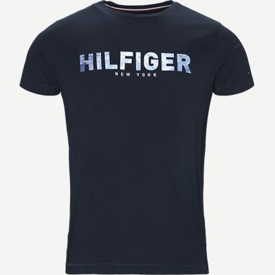 Hilfiger Applique Tee Regular | Hilfiger Applique Tee | Blå