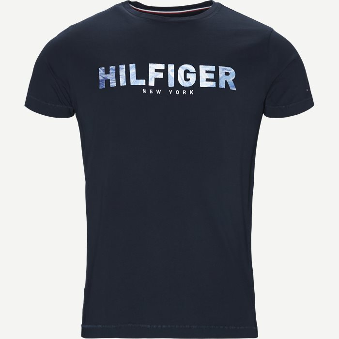 Hilfiger Applique Tee - T-shirts - Regular - Blå