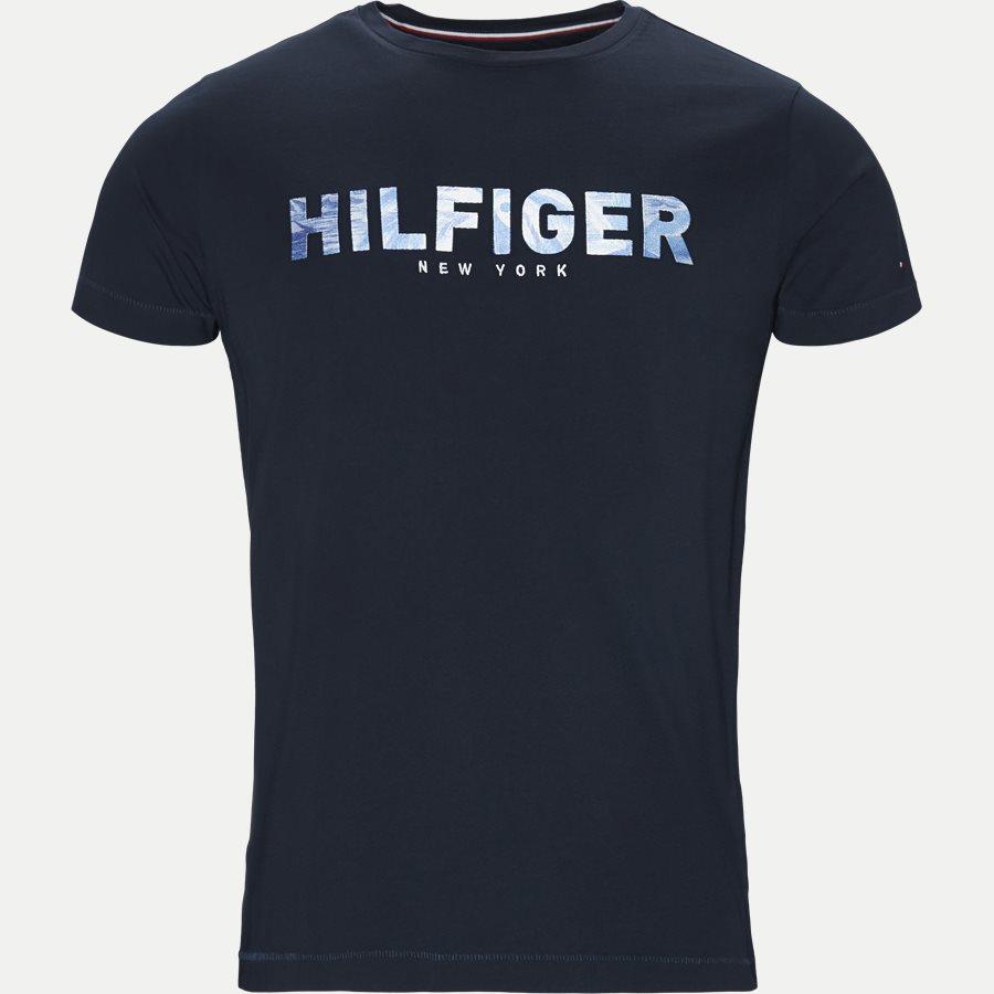 HILFIGER APPLIQUE TEE - T-shirts - Regular - NAVY - 1