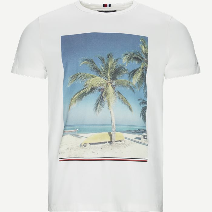 Summer Photo Print Tee - T-shirts - Regular - Hvid