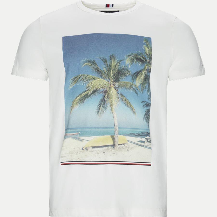 SUMMER PHOTO PALM PRINT TEE - Summer Photo Print Tee - T-shirts - Regular - HVID - 1