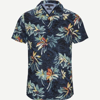 Hawaiian Print Shirt Regular | Hawaiian Print Shirt | Blå