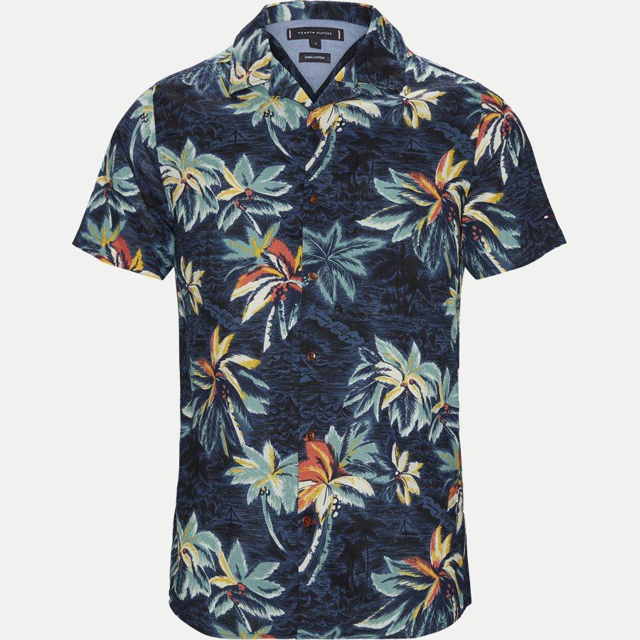 HAWAIIAN PRINT SHIRT S/S - Hawaiian Print Shirt - Skjorter - Regular - NAVY - 1