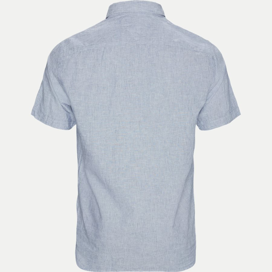COTTON LINEN SHIRT S/S - Cotton Linen Shirt SS  - Skjorter - Regular - BLÅ - 2