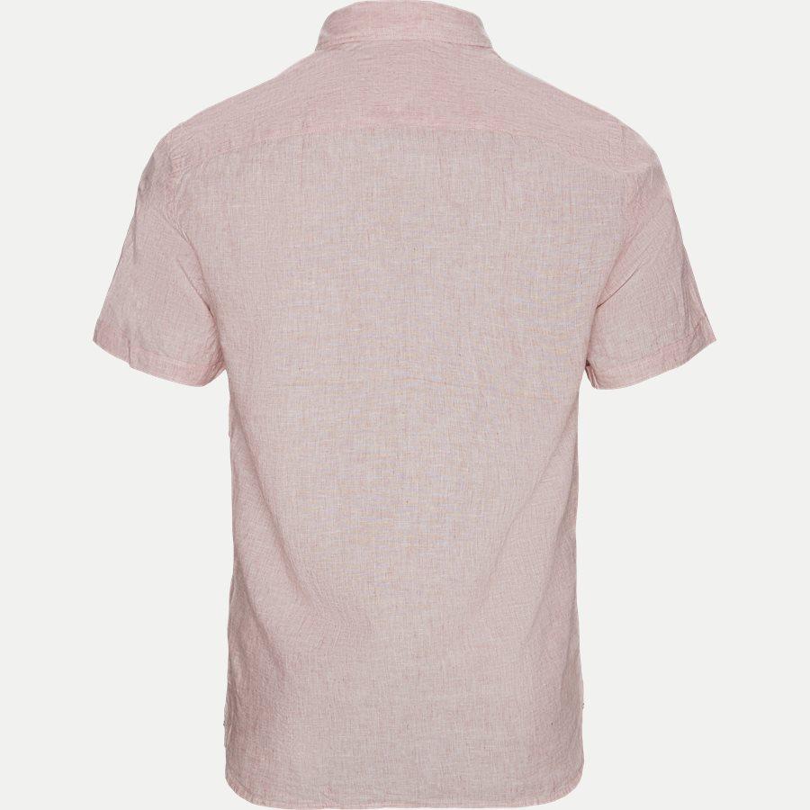 COTTON LINEN SHIRT S/S - Cotton Linen Shirt SS  - Skjorter - Regular - RØD - 2