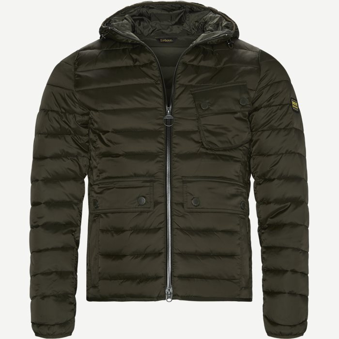Ouston Hooded Quilt Jacket - Jakker - Regular - Army