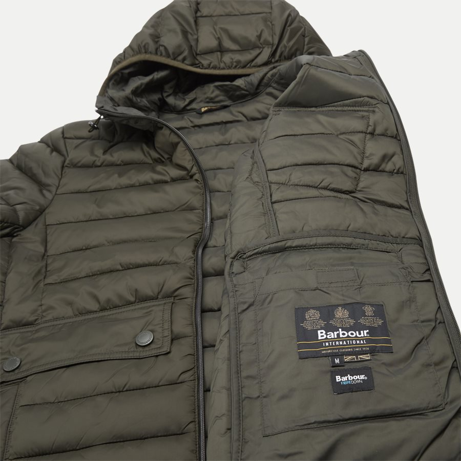 OUSTON - Ouston Hooded Quilt Jacket - Jakker - Regular - OLIVEN - 12