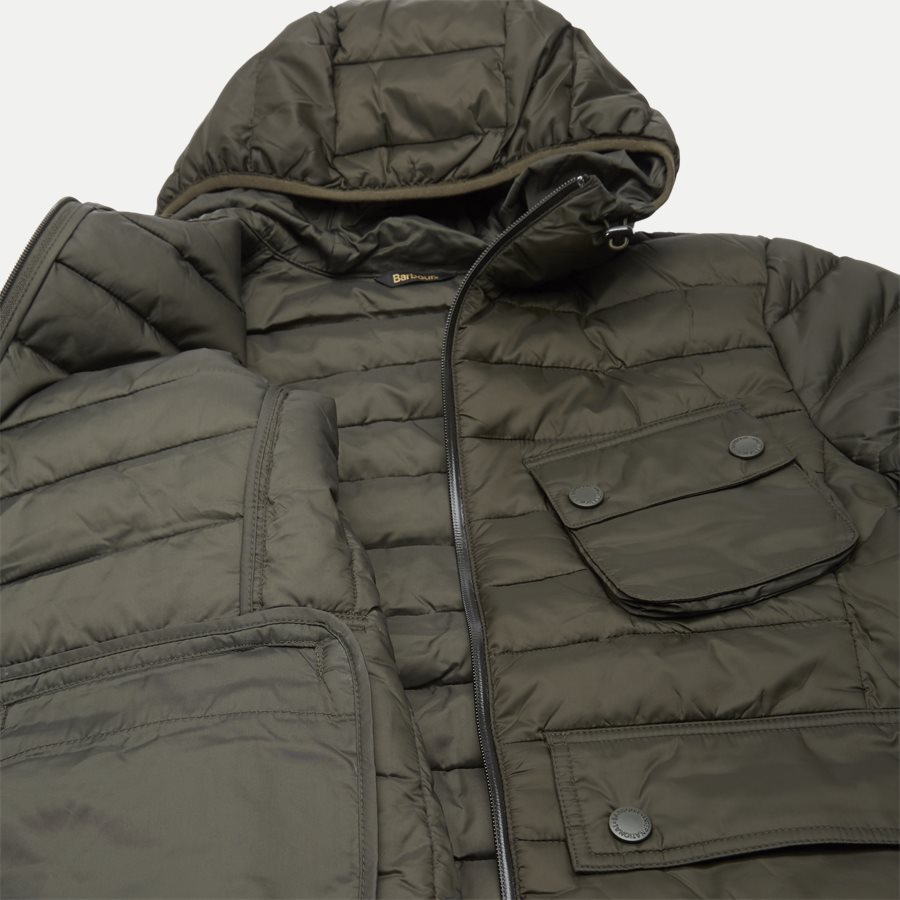 OUSTON - Ouston Hooded Quilt Jacket - Jakker - Regular - OLIVEN - 13