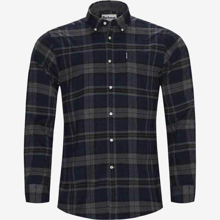 Highland Check Shirt - Skjorter - Tailored fit - Grå