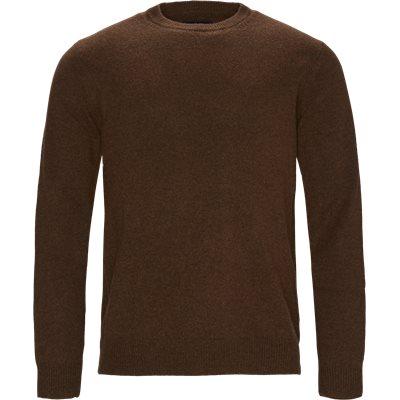 Patch Crew Sweater Regular | Patch Crew Sweater | Brun