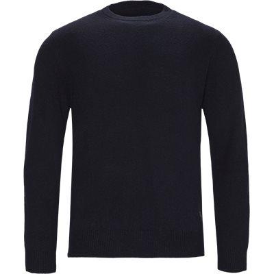 Patch Crew Sweater Regular | Patch Crew Sweater | Blå