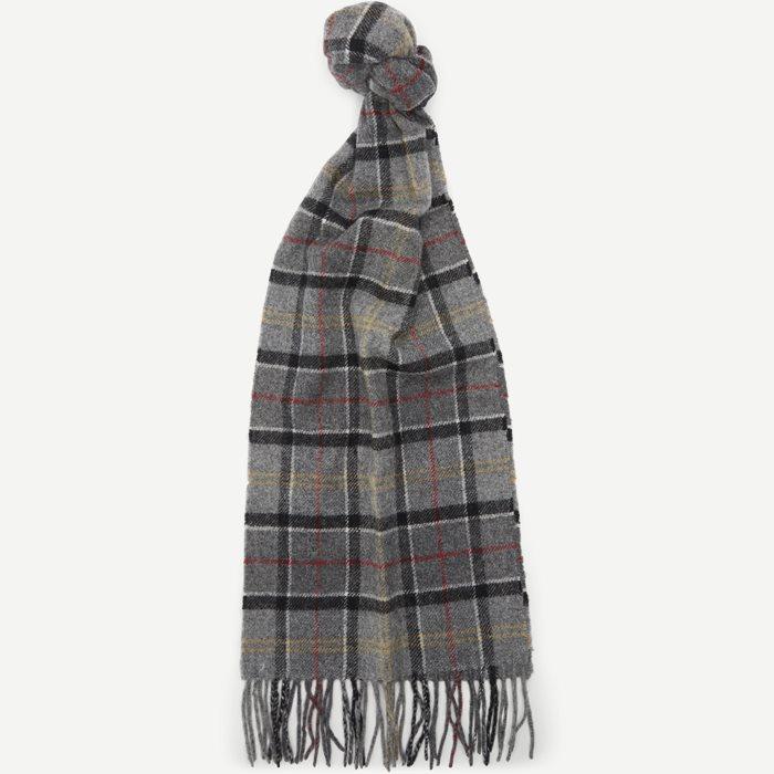 Tartan Lambswool Scarf - Tørklæder - Grå
