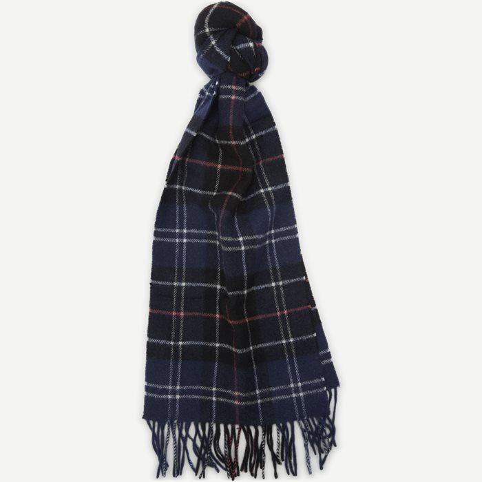 Tartan Lambswool Scarf - Tørklæder - Blå
