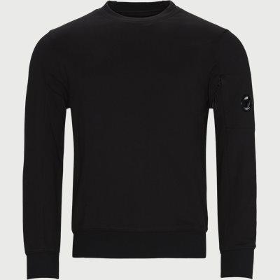Crew Neck Diagonal Raised Fleece Sweatshirt Regular | Crew Neck Diagonal Raised Fleece Sweatshirt | Sort