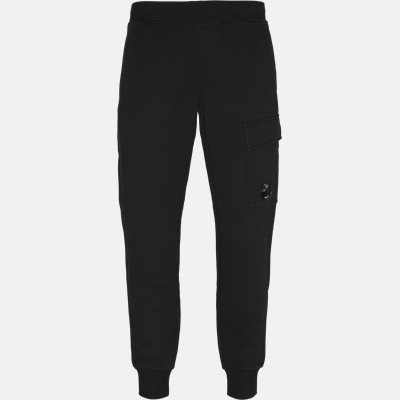 Diagonal Raised Fleece Lens Sweatpants Tapered fit | Diagonal Raised Fleece Lens Sweatpants | Sort