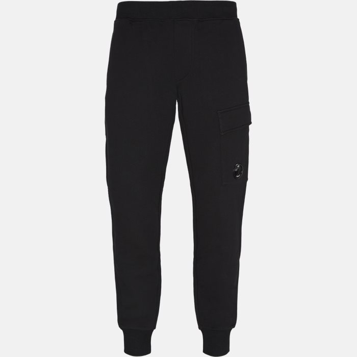 Diagonal Raised Fleece Lens Sweatpants - Bukser - Tapered fit - Sort