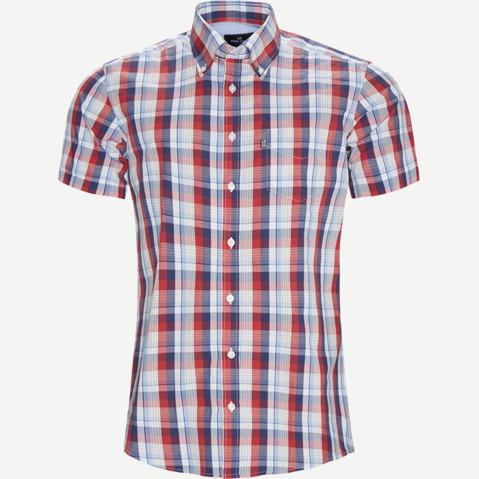 Ternet Kortærmet Skjorte - Ternede skjorter - Regular - Blå