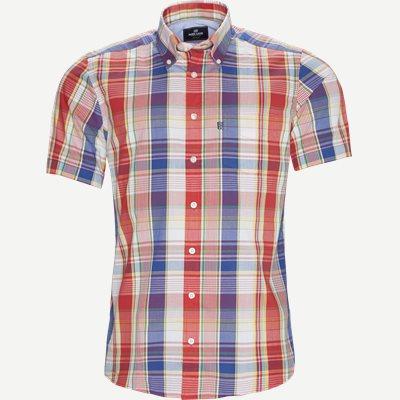 Ternet Kortærmet Skjorte Regular | Ternet Kortærmet Skjorte | Rød
