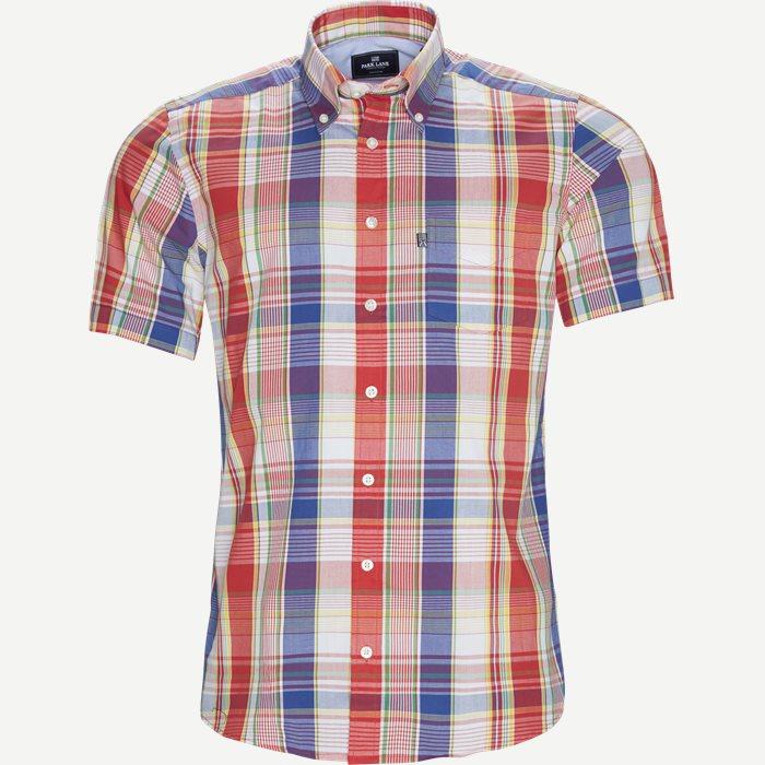 Ternet Kortærmet Skjorte - Ternede skjorter - Regular - Rød