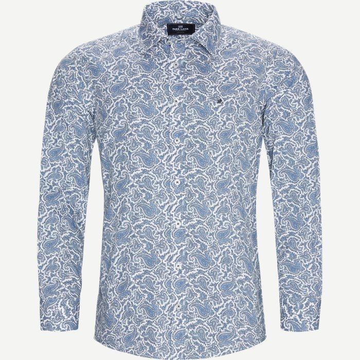 Paisley Skjorte - Skjorter - Slim - Blå
