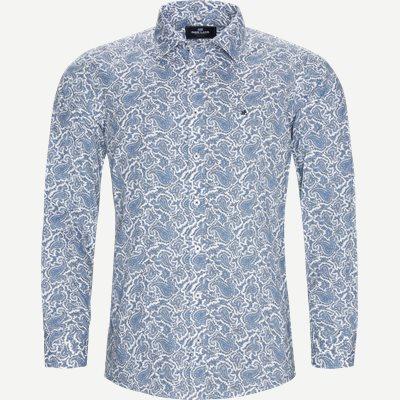 Paisley Skjorte Slim | Paisley Skjorte | Blå