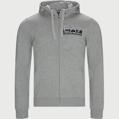 Logo Zip Sweatshirt Regular | Logo Zip Sweatshirt | Grå