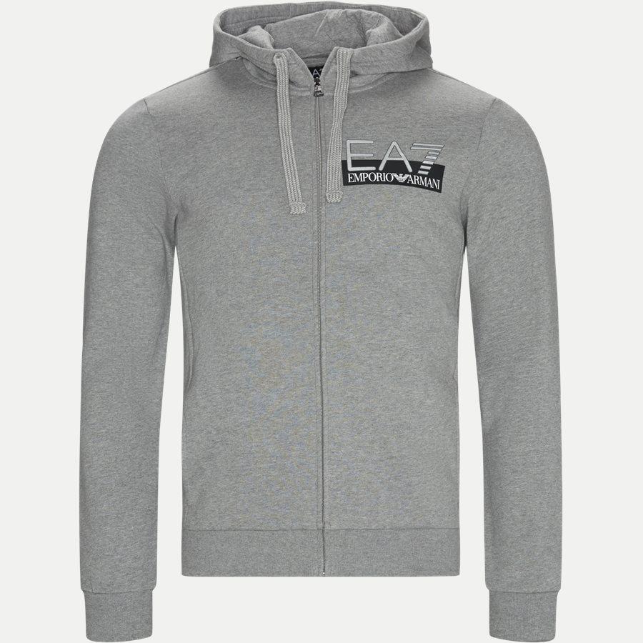 PJ07Z 6GPV57 VR. 43 - Logo Zip Sweatshirt - Sweatshirts - Regular - GRÅ - 1