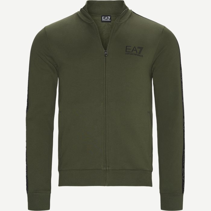 Logoband Zip Sweatshirt - Sweatshirts - Regular - Army