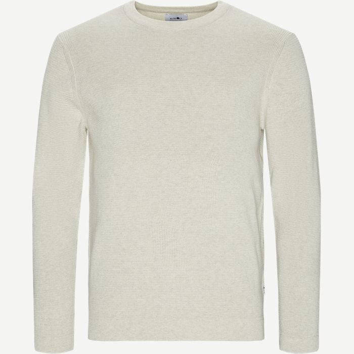 Julian Crewneck Knit - Strik - Regular - Sand