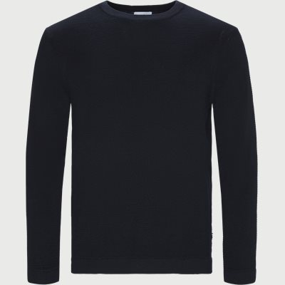 Julian Crewneck Knit Regular | Julian Crewneck Knit | Blå