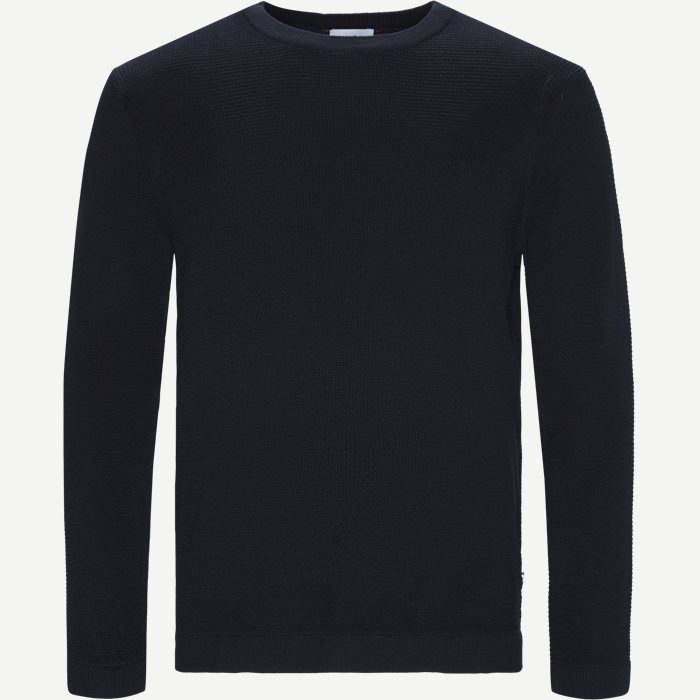 Julian Crewneck Knit - Strik - Regular - Blå