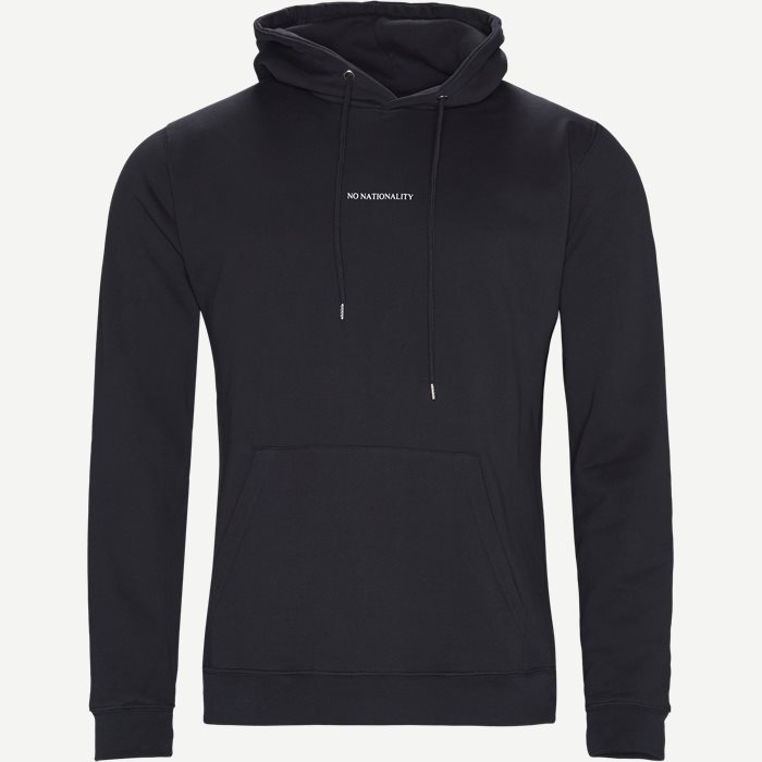 Barrow Printed Hoodie - Sweatshirts - Regular - Blå