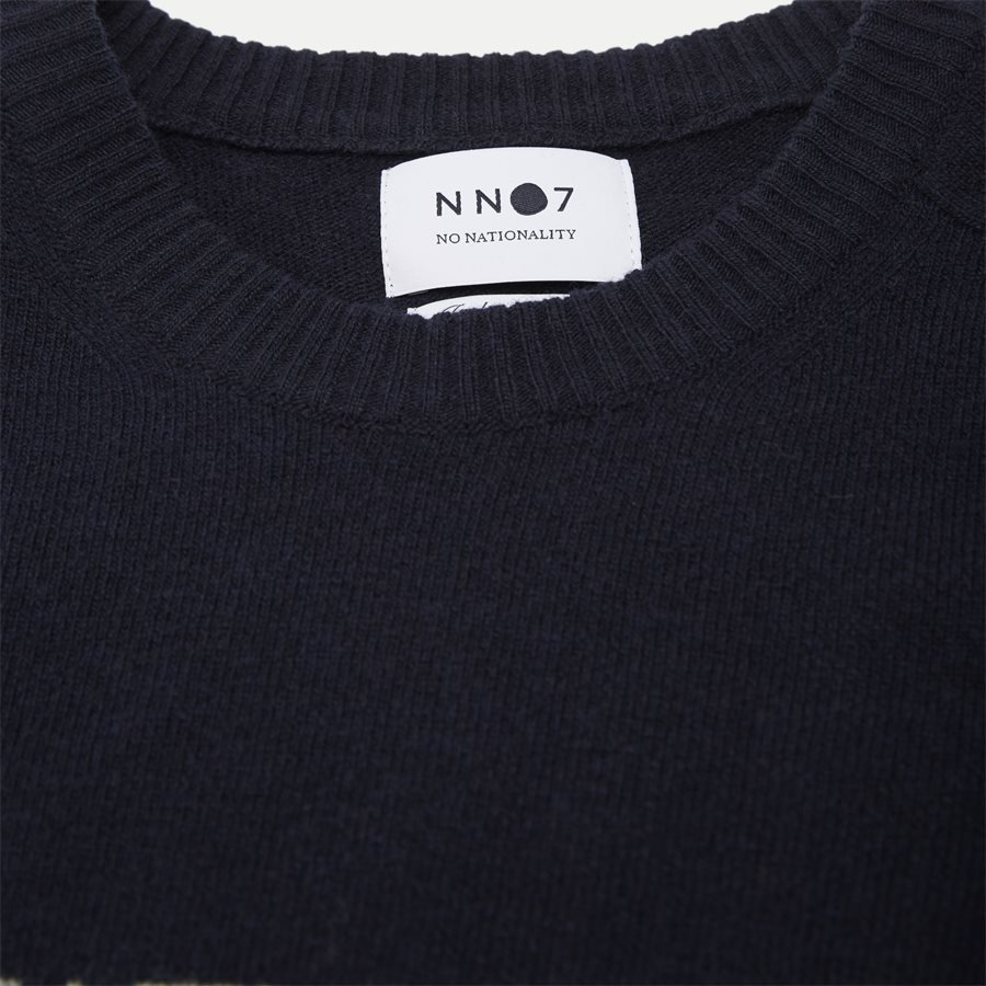 EDWARD LOGO 6333 - Edward Logo Knit - Strik - Regular - NAVY - 4
