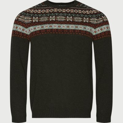 Nathan Fair Isle Sweater Regular | Nathan Fair Isle Sweater | Army