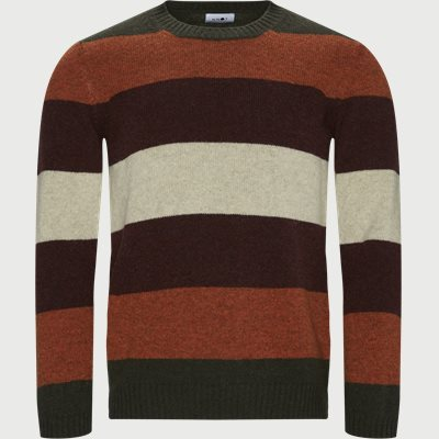 Nathan Stripe Sweater Regular | Nathan Stripe Sweater | Orange