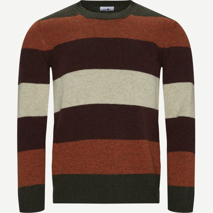 Nathan Stripe Sweater - Strik - Regular - Orange