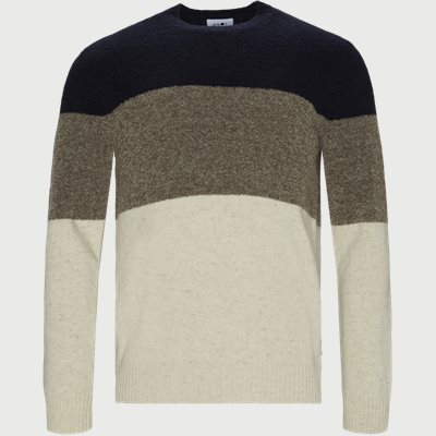 Ed Block Sweater Regular | Ed Block Sweater | Blå